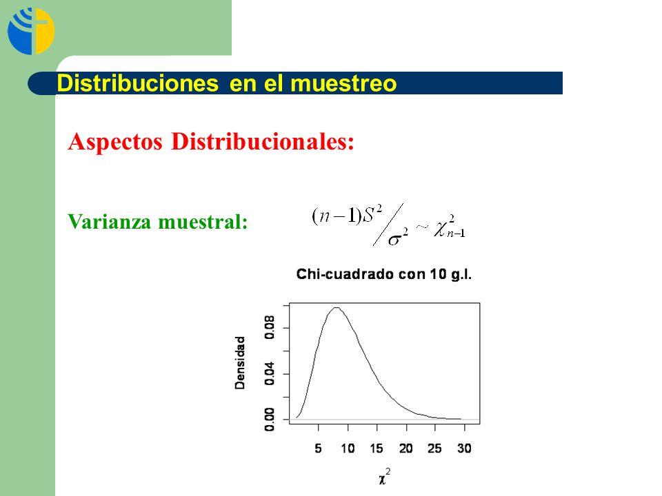 Aspectos Distribucionales: