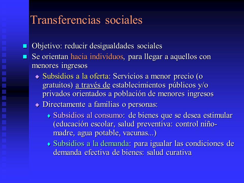 Transferencias sociales