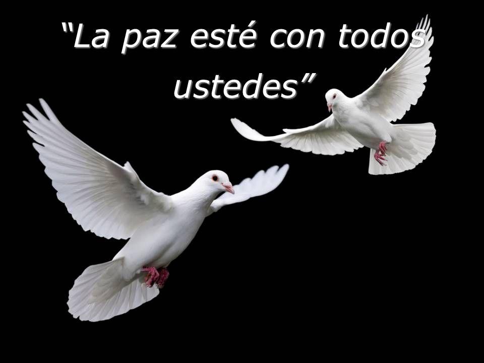 La paz esté con todos ustedes
