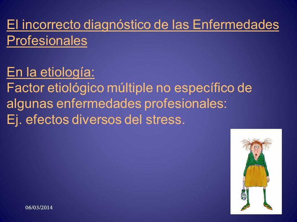 El incorrecto diagnóstico de las Enfermedades Profesionales