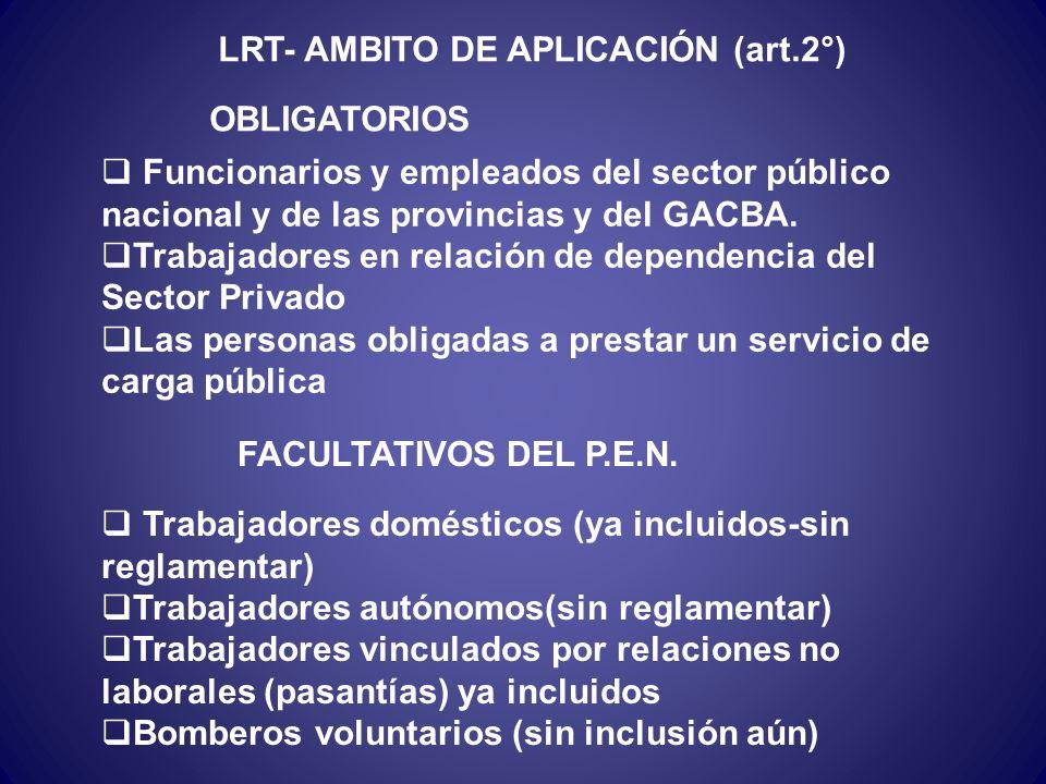 LRT- AMBITO DE APLICACIÓN (art.2°)