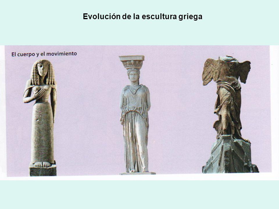 Evolución de la escultura griega