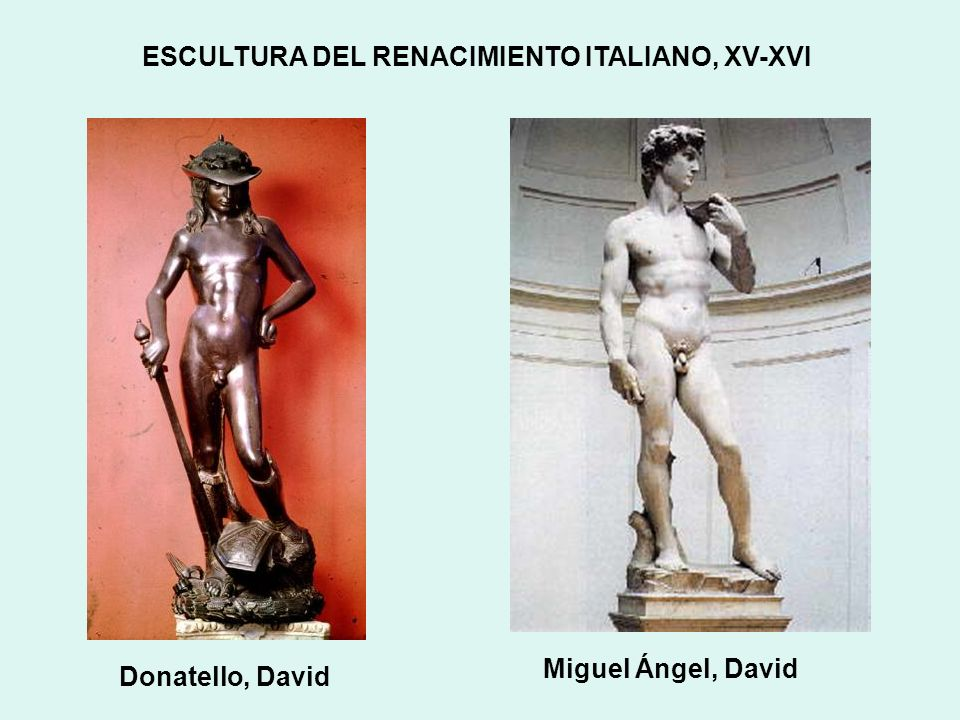 ESCULTURA DEL RENACIMIENTO ITALIANO, XV-XVI