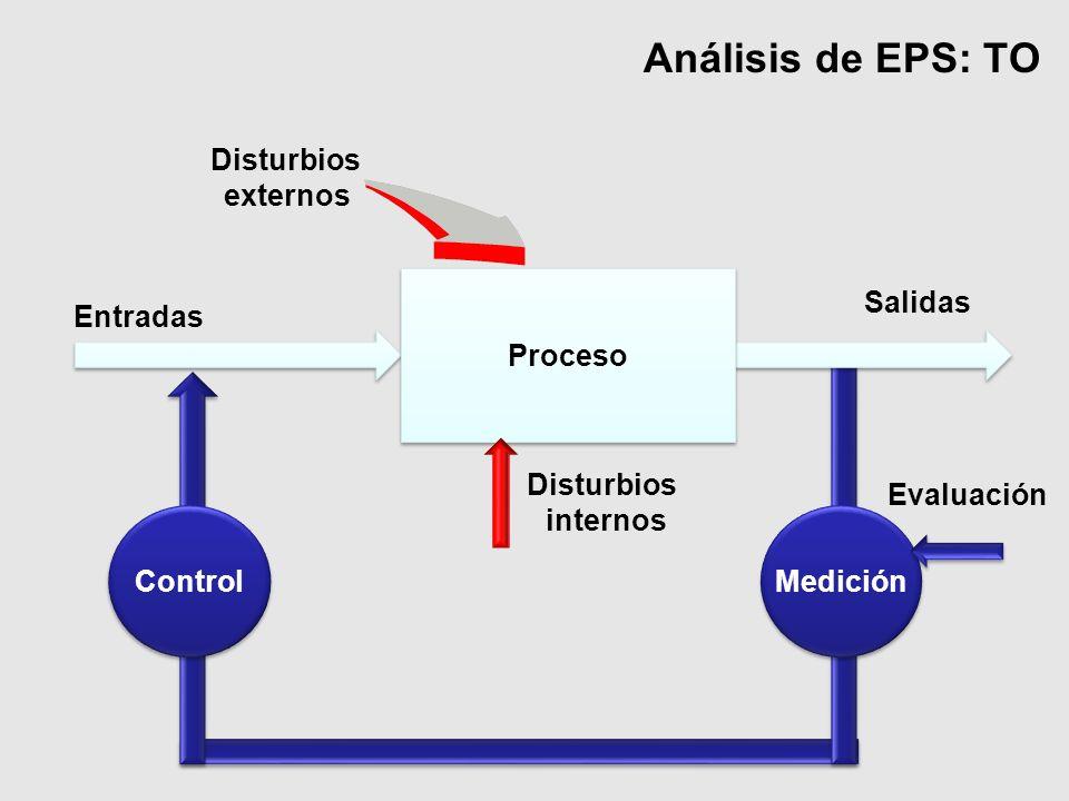 Análisis de EPS: TO Disturbios externos Proceso Salidas Entradas