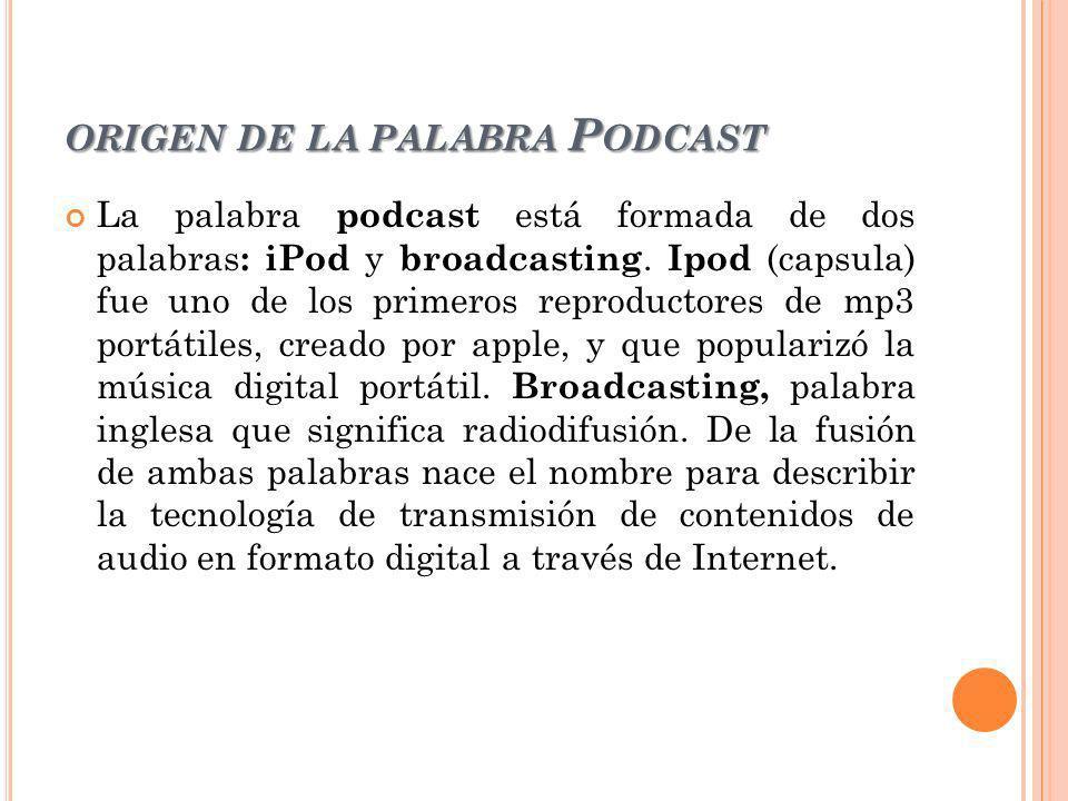 origen de la palabra Podcast