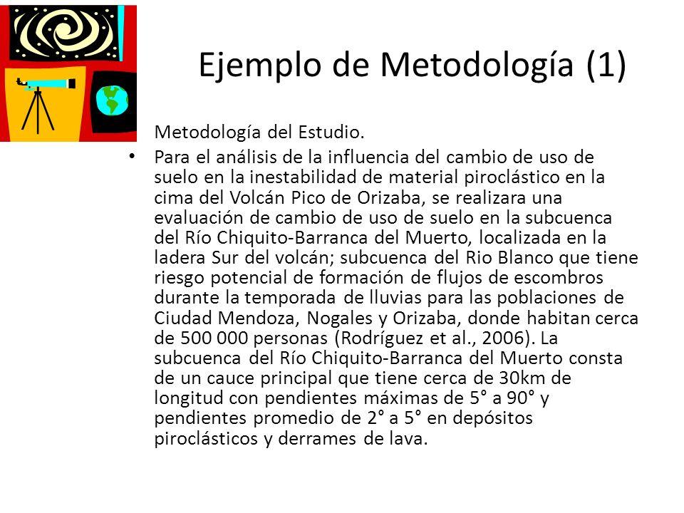 Ejemplo de Metodología (1)