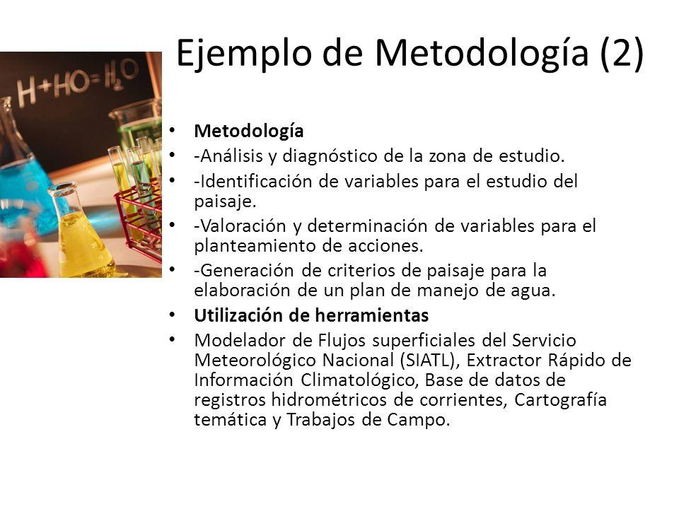 Ejemplo de Metodología (2)