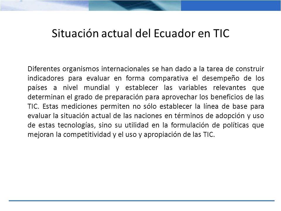 Situación actual del Ecuador en TIC