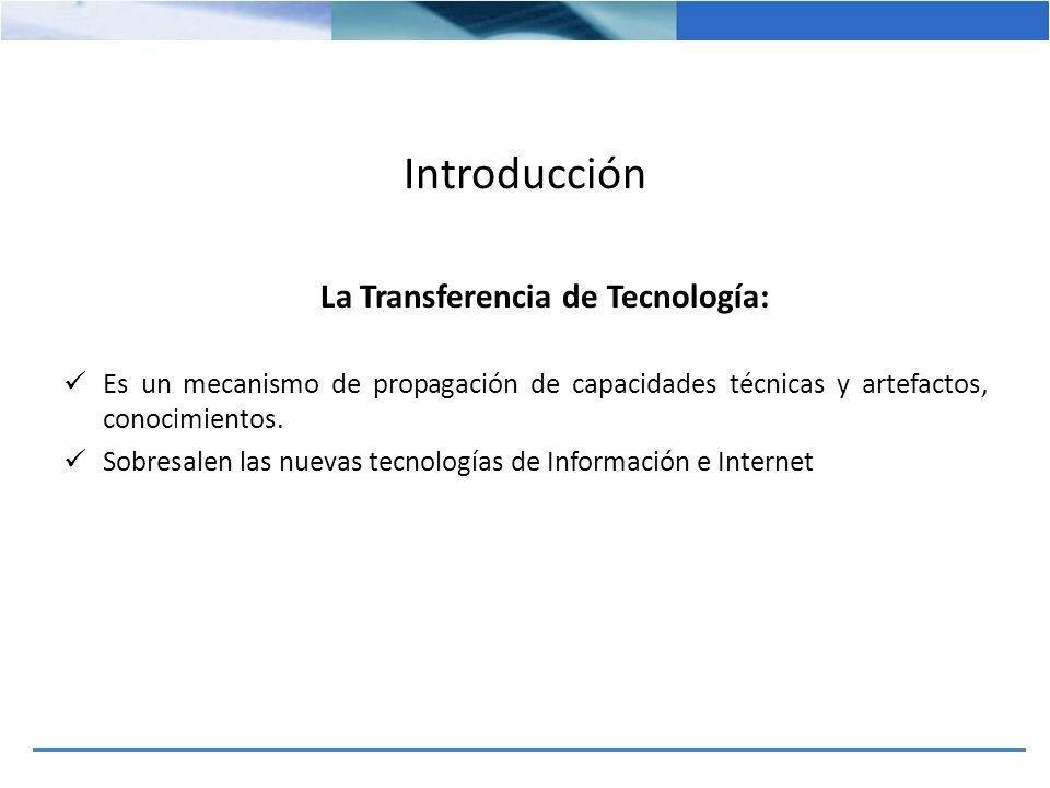 La Transferencia de Tecnología: