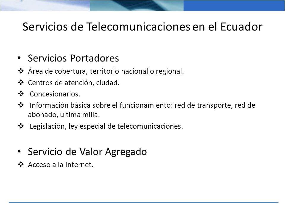 Servicios de Telecomunicaciones en el Ecuador