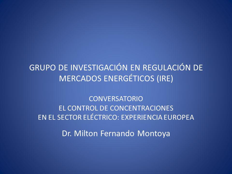 GRUPO DE INVESTIGACIÓN EN REGULACIÓN DE MERCADOS ENERGÉTICOS (IRE)