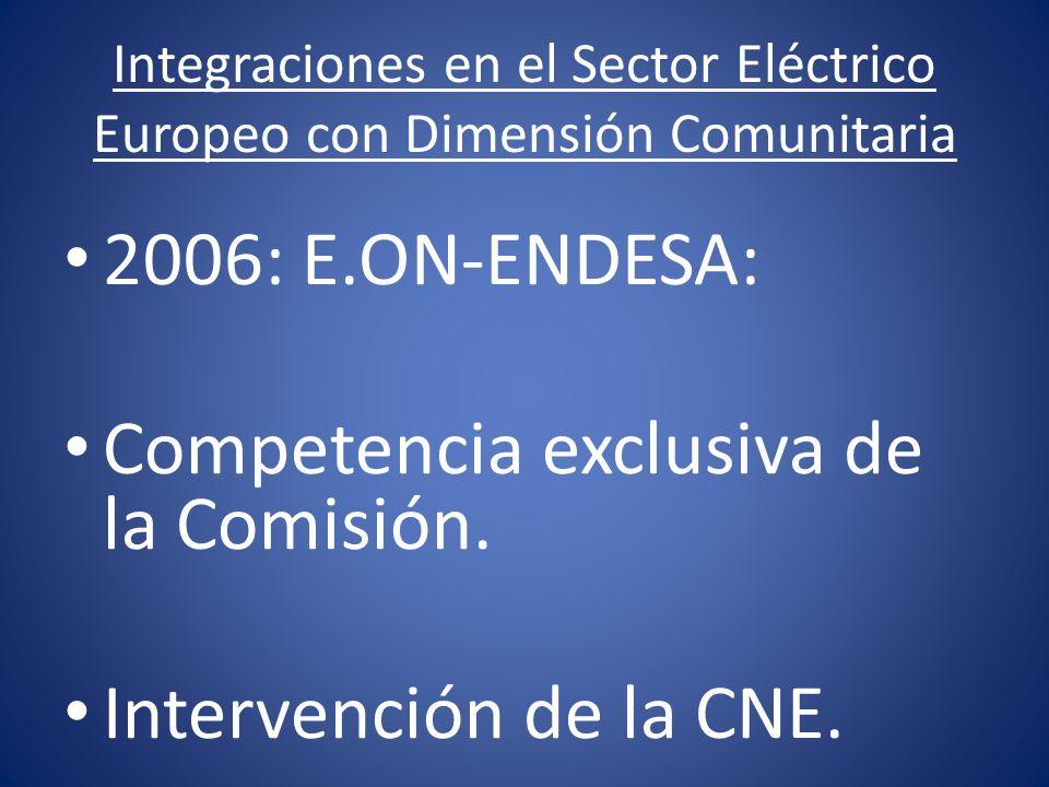 Integraciones en el Sector Eléctrico Europeo con Dimensión Comunitaria