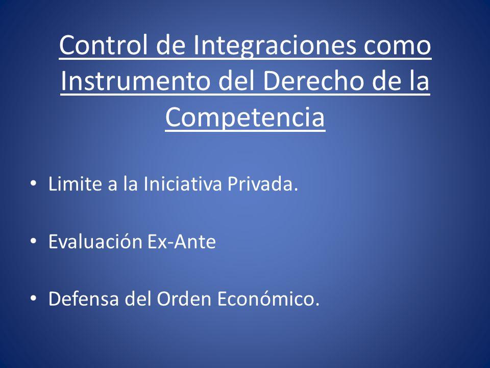 Control de Integraciones como Instrumento del Derecho de la Competencia