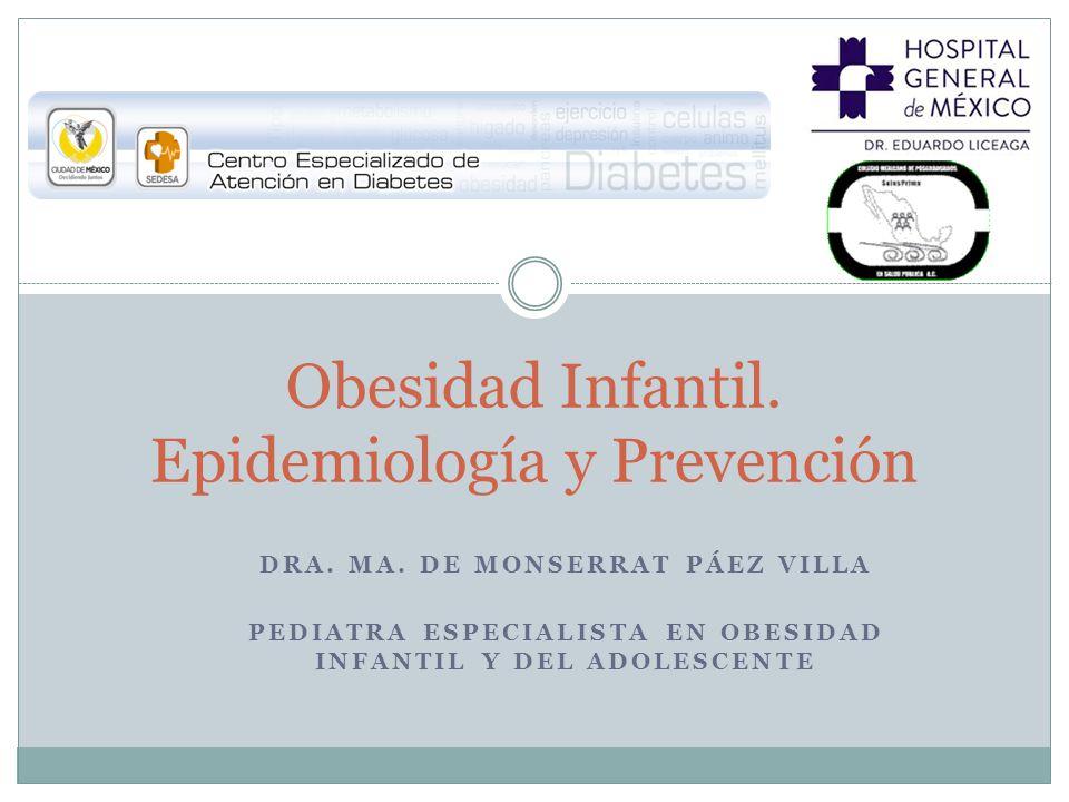 Obesidad Infantil. Epidemiología y Prevención
