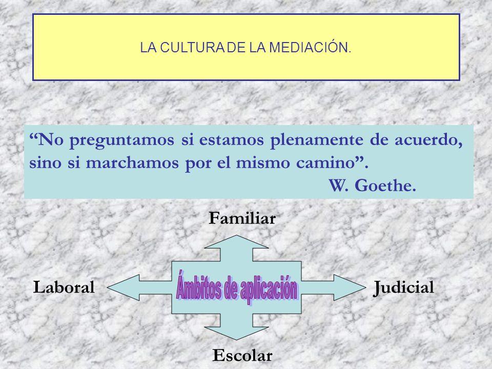 LA CULTURA DE LA MEDIACIÓN.