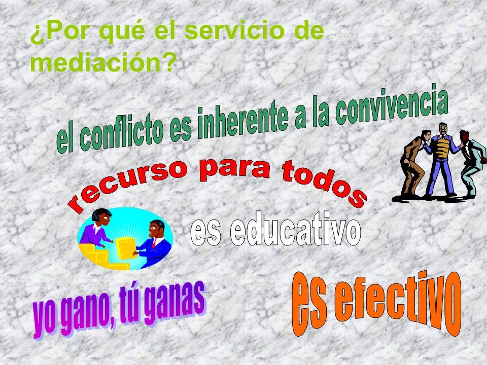 ¿Por qué el servicio de mediación