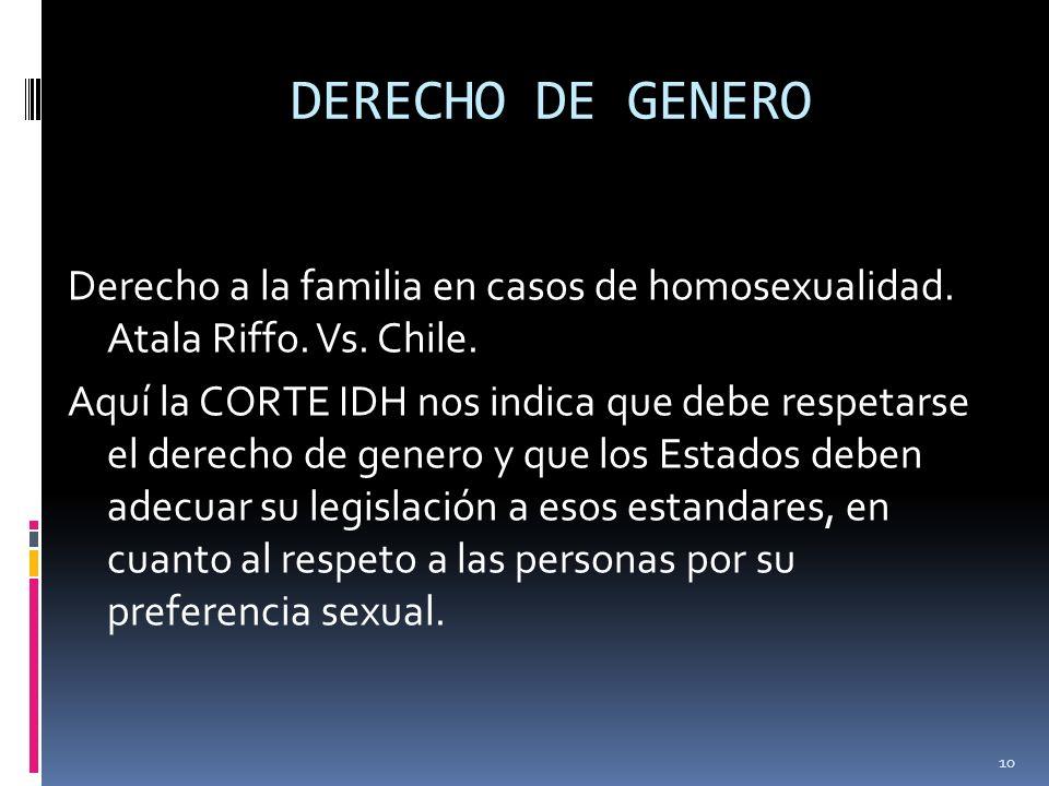 DERECHO DE GENERO