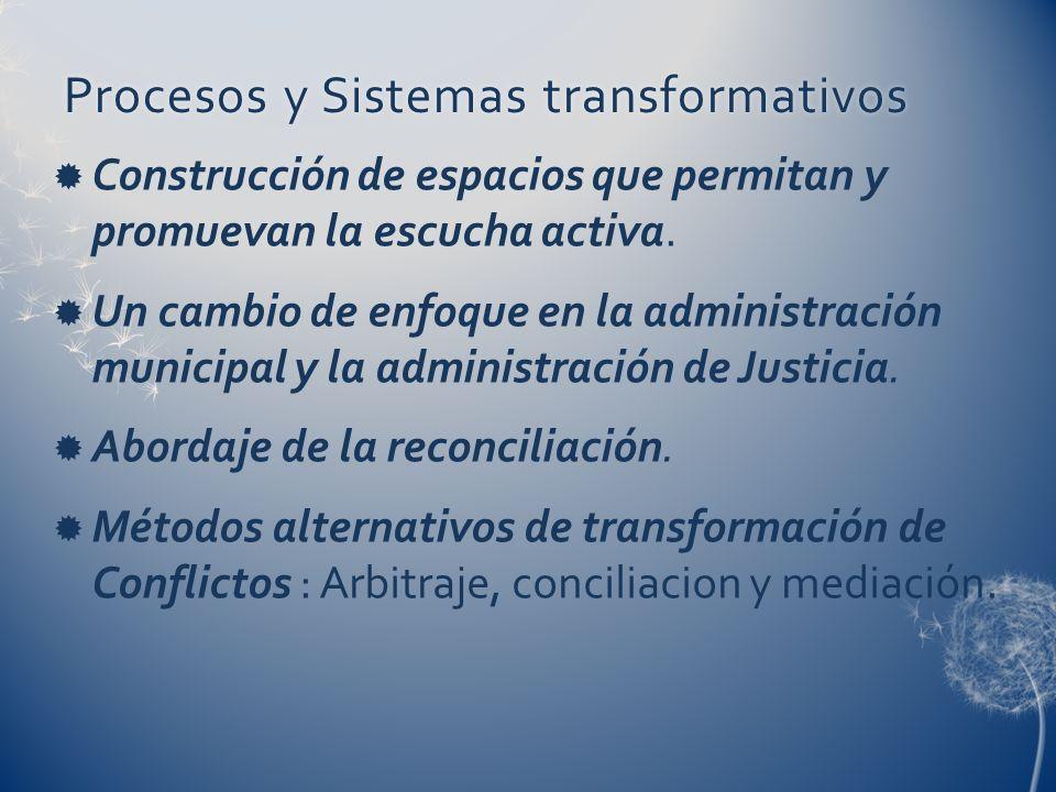Procesos y Sistemas transformativos