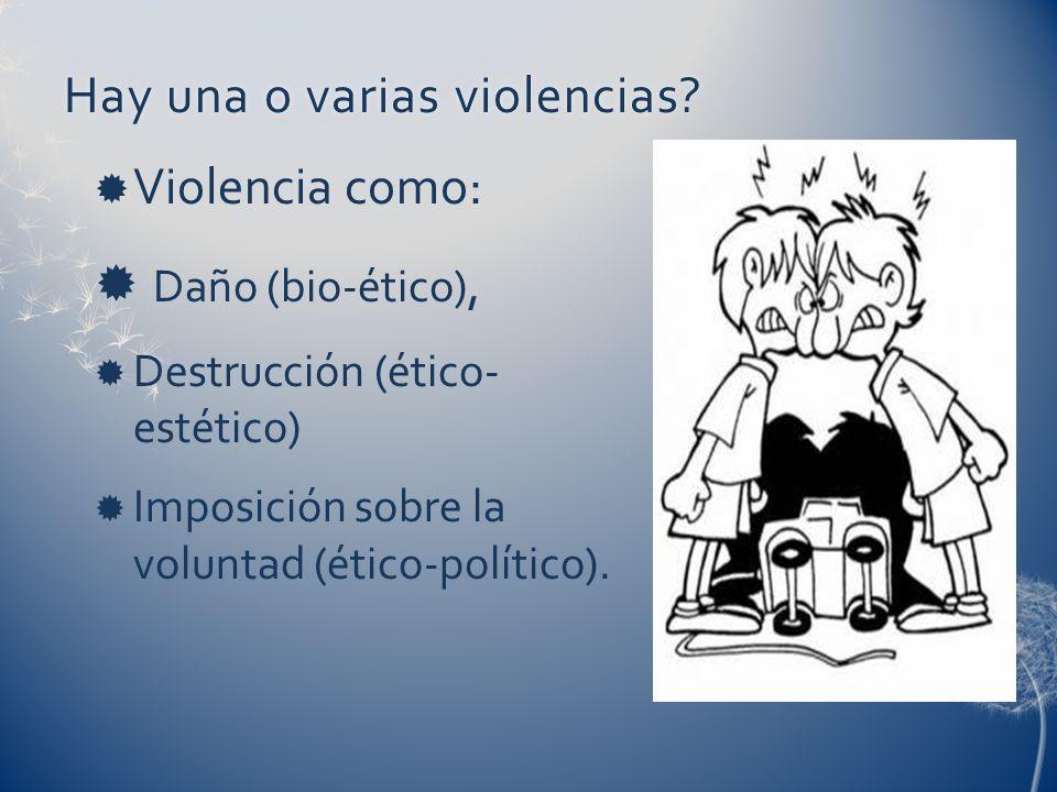 Hay una o varias violencias
