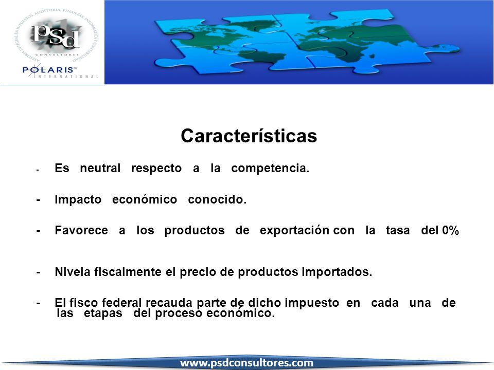 Características - Impacto económico conocido.