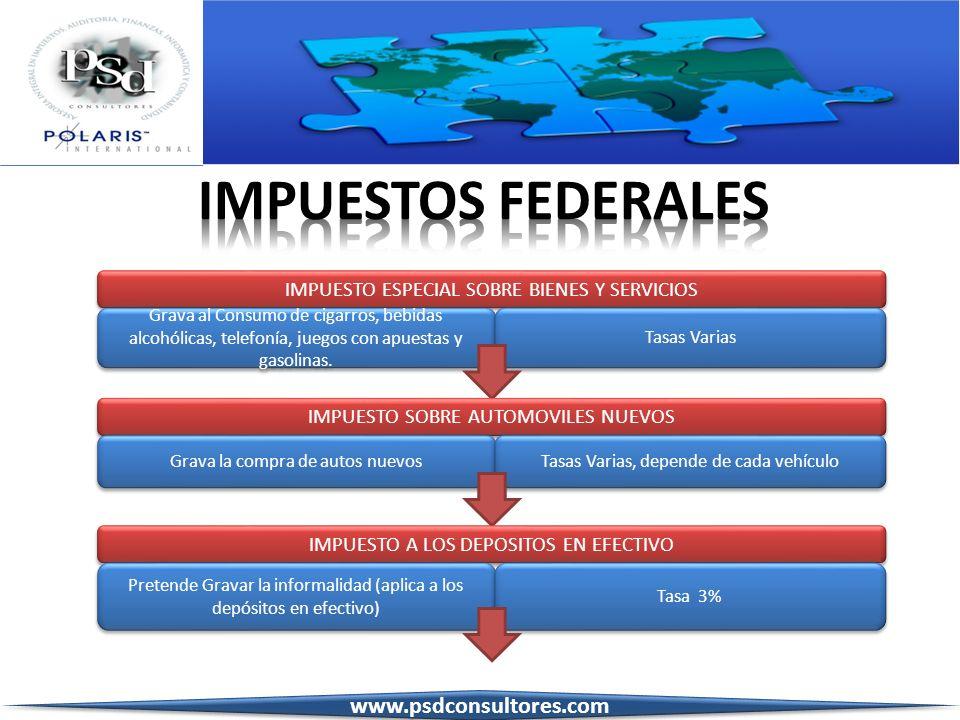 IMPUESTOS FEDERALES www.psdconsultores.com