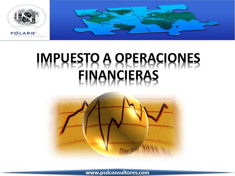 IMPUESTO A OPERACIONES FINANCIERAS