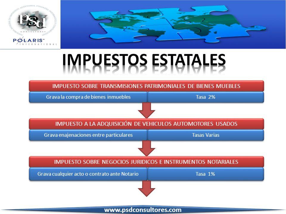 IMPUESTOS ESTATALES www.psdconsultores.com