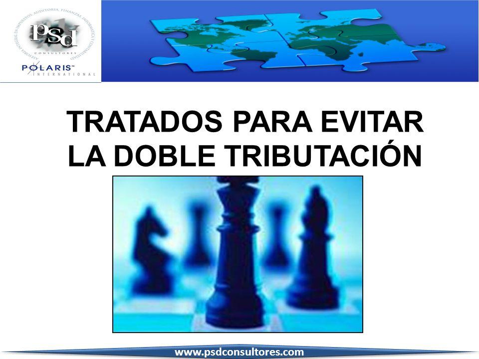 TRATADOS PARA EVITAR LA DOBLE TRIBUTACIÓN