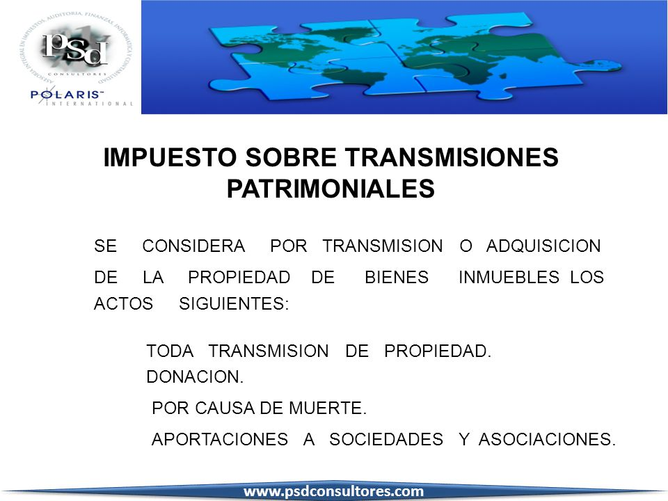 IMPUESTO SOBRE TRANSMISIONES