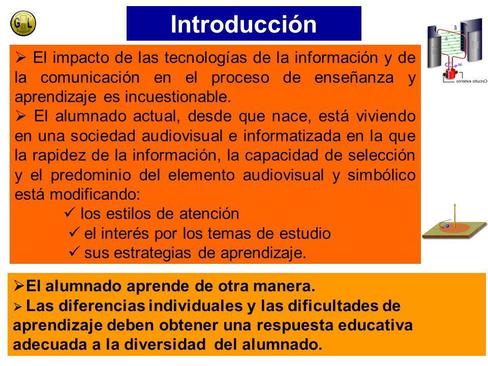 Introducción  El impacto de las tecnologías de la información y de la comunicación en el proceso de enseñanza y aprendizaje es incuestionable.