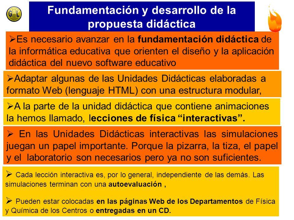 Fundamentación y desarrollo de la propuesta didáctica