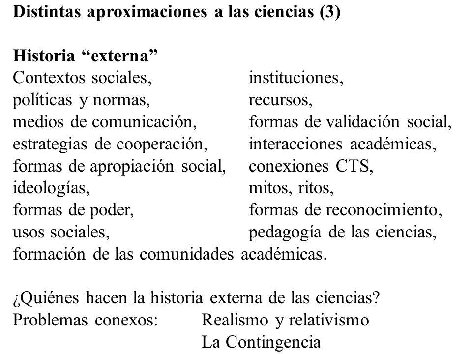 Distintas aproximaciones a las ciencias (3)