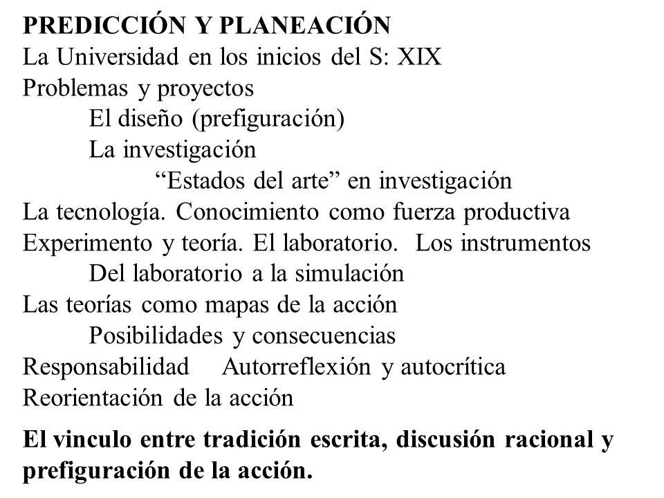 PREDICCIÓN Y PLANEACIÓN