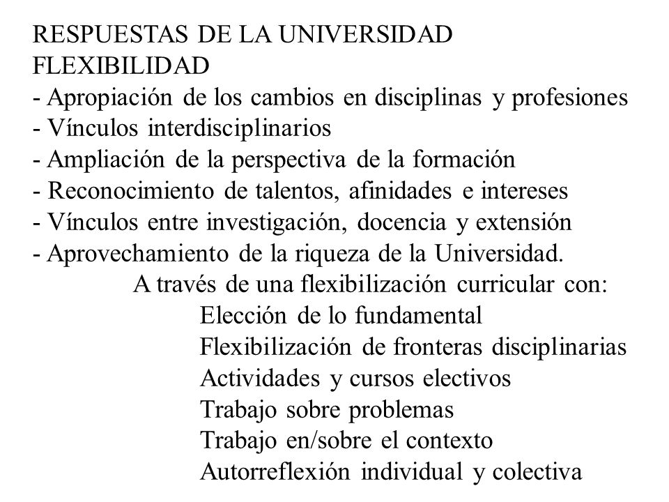 RESPUESTAS DE LA UNIVERSIDAD