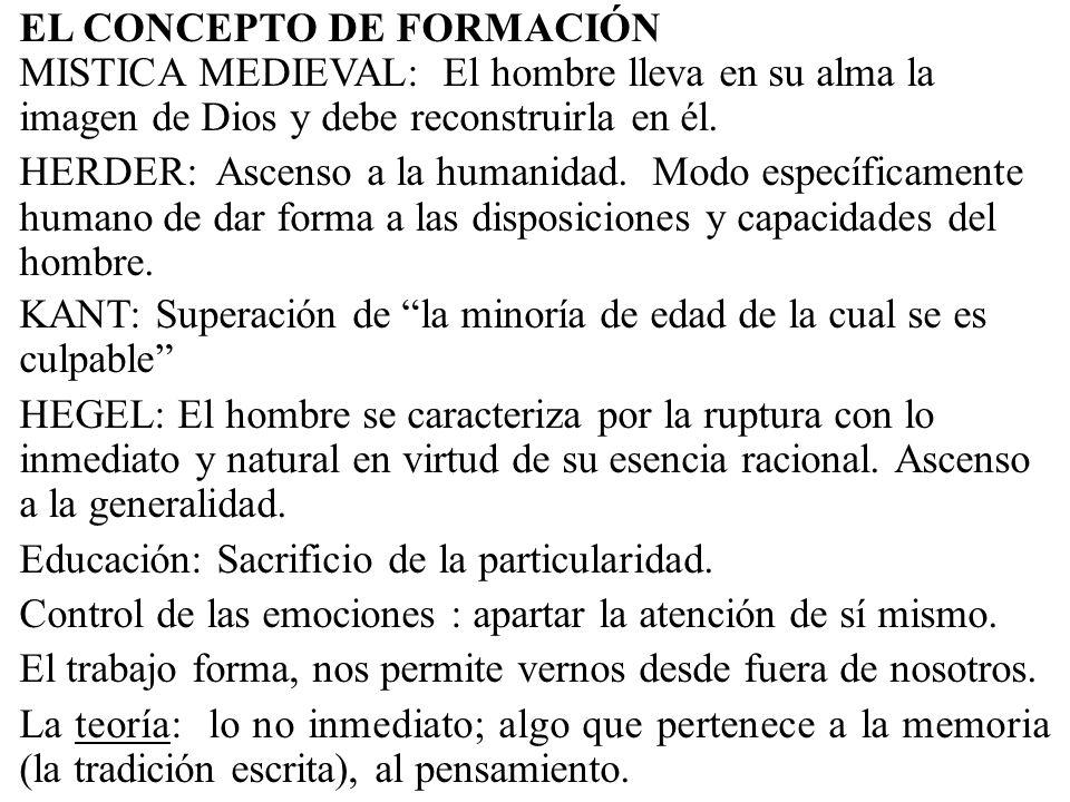 EL CONCEPTO DE FORMACIÓN