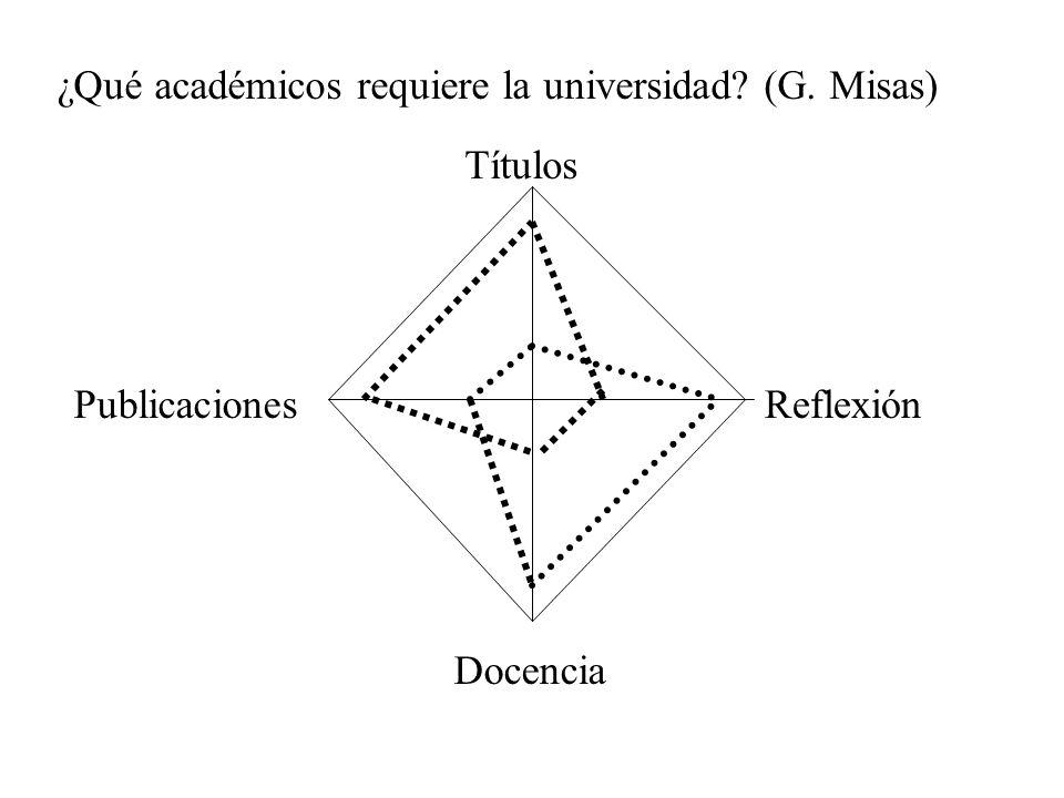¿Qué académicos requiere la universidad (G. Misas)