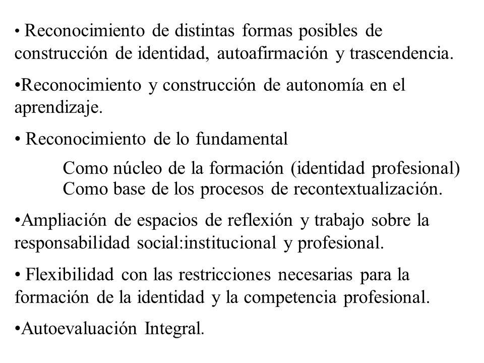 Reconocimiento y construcción de autonomía en el aprendizaje.