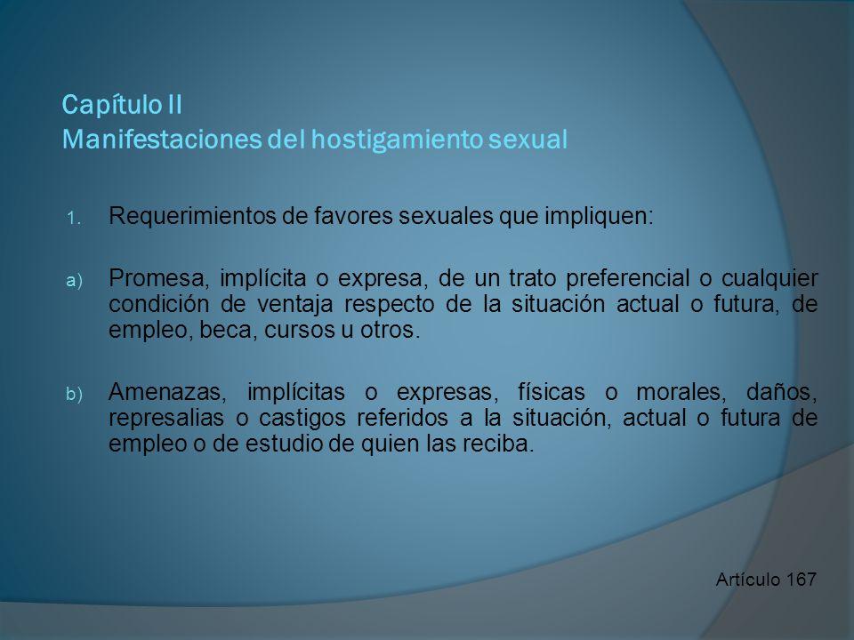 Capítulo II Manifestaciones del hostigamiento sexual