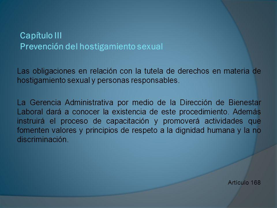 Capítulo III Prevención del hostigamiento sexual