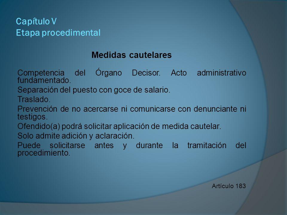 Capítulo V Etapa procedimental