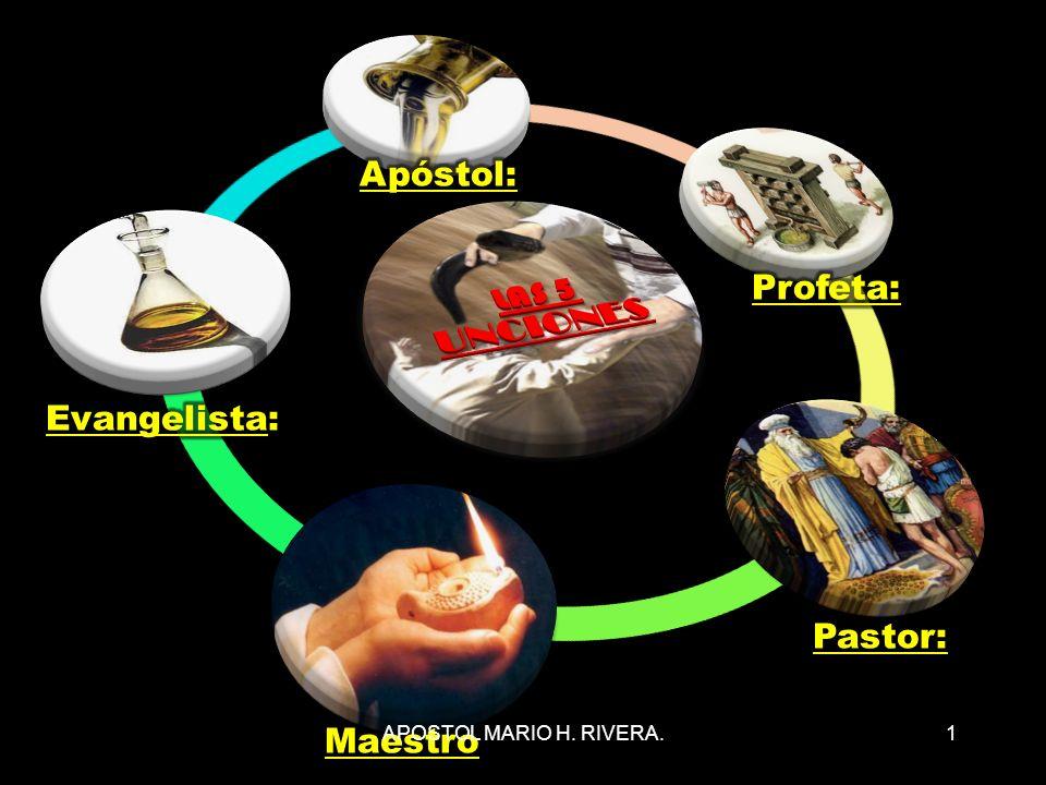 LAS 5 UNCIONES Apóstol: Profeta: Evangelista: Pastor: Maestro