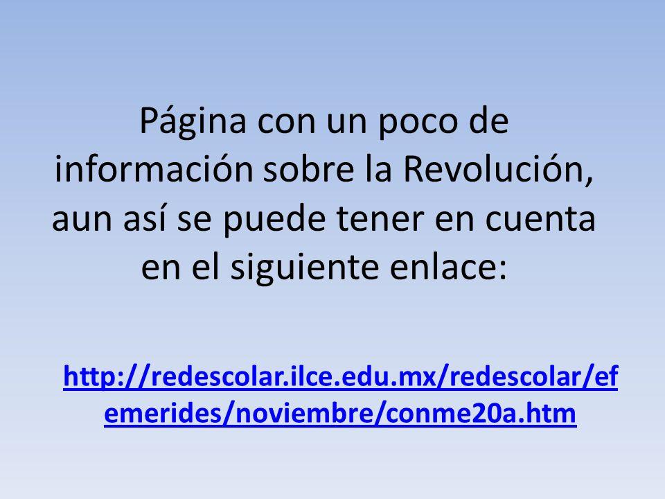 Página con un poco de información sobre la Revolución, aun así se puede tener en cuenta en el siguiente enlace: