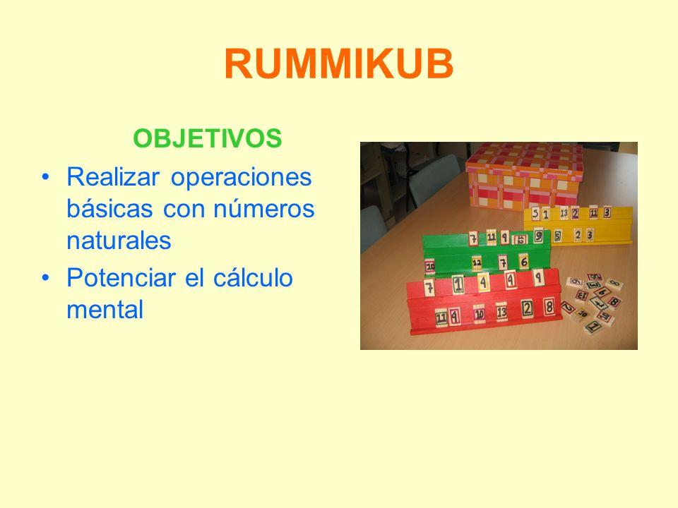 RUMMIKUB OBJETIVOS Realizar operaciones básicas con números naturales