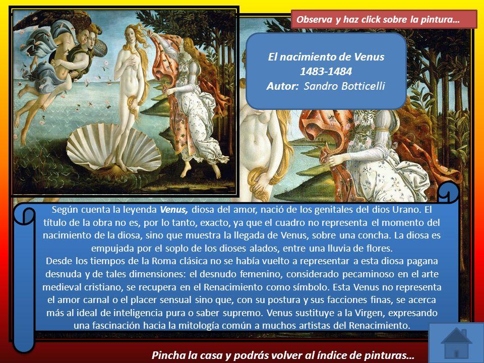 El nacimiento de Venus 1483-1484