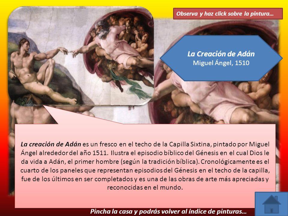 La Creación de Adán Miguel Ángel, 1510