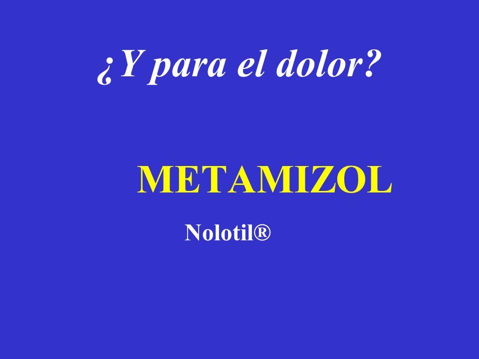 ¿Y para el dolor METAMIZOL Nolotil®