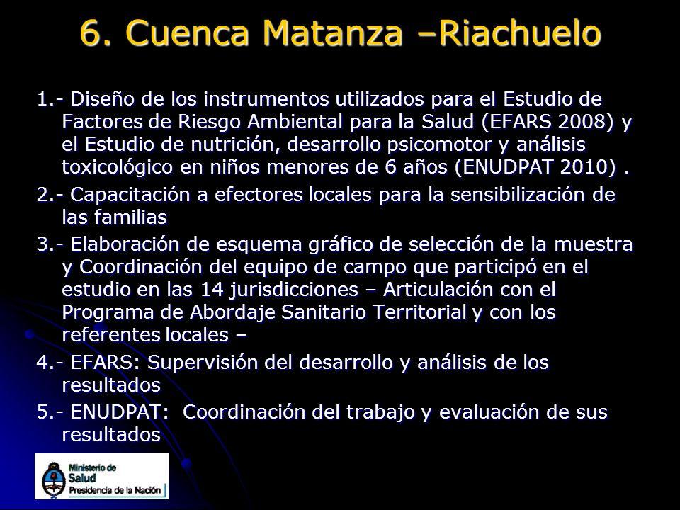 6. Cuenca Matanza –Riachuelo
