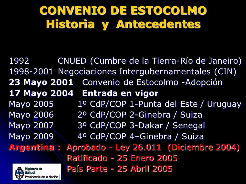 CONVENIO DE ESTOCOLMO Historia y Antecedentes
