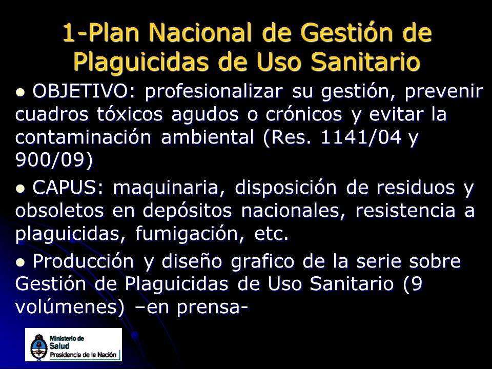 1-Plan Nacional de Gestión de Plaguicidas de Uso Sanitario