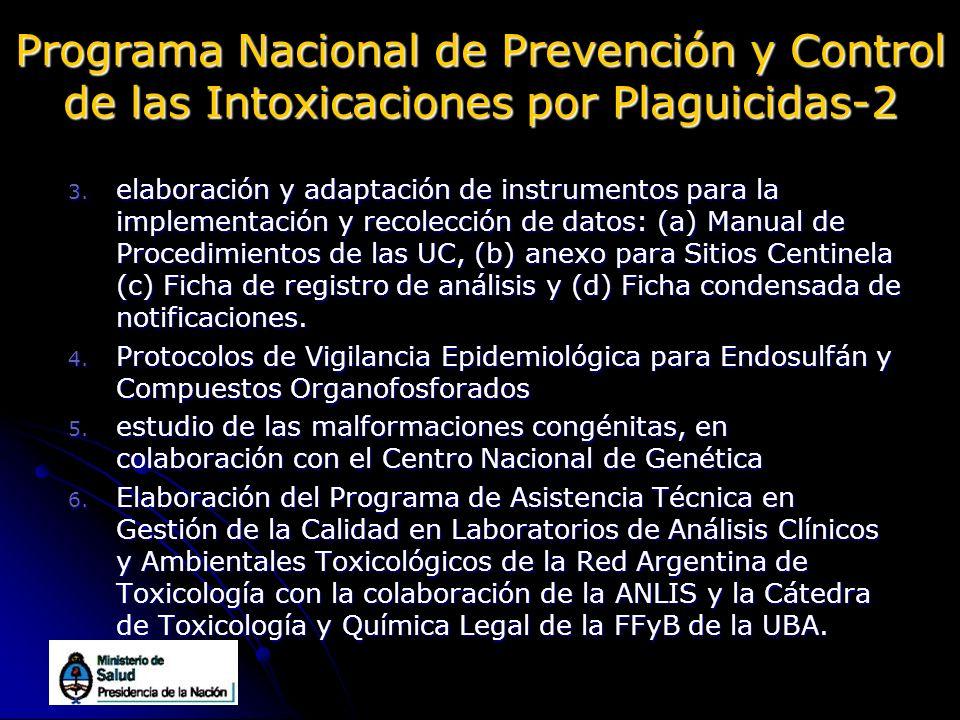 Programa Nacional de Prevención y Control de las Intoxicaciones por Plaguicidas-2